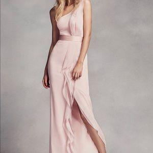 David's Bridal Vera Wang blush bridesmaid dress